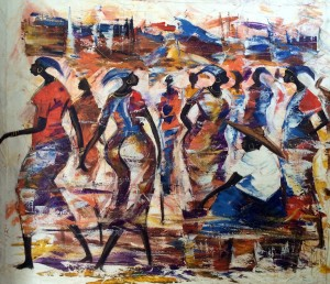 Auc20-AfricanMarketPainting